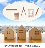 real estate design estimation | Shutterstock . vector #746683612