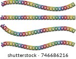 cartoon train design background | Shutterstock .eps vector #746686216