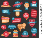 discount icons  big sale... | Shutterstock .eps vector #746690515