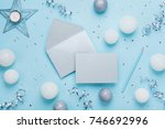 envelope  paper card and... | Shutterstock . vector #746692996