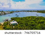 view of hope town harbour from... | Shutterstock . vector #746705716