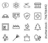 thin line icon set   money... | Shutterstock .eps vector #746706442