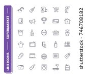 line icons set. supermarket...