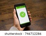 successful online car rental... | Shutterstock . vector #746712286