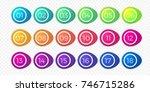 number bullet point flat color... | Shutterstock .eps vector #746715286