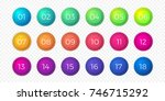 number bullet point flat color... | Shutterstock .eps vector #746715292