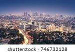 los angeles  california  usa... | Shutterstock . vector #746732128