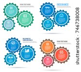 set technology abstract design... | Shutterstock .eps vector #746738008
