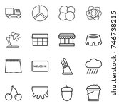 thin line icon set   truck ... | Shutterstock .eps vector #746738215