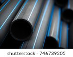 hdpe pipe for water supply   Shutterstock . vector #746739205
