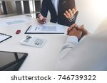 businessman will be signing a... | Shutterstock . vector #746739322