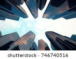 3d rendering low angle view of... | Shutterstock . vector #746740516