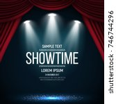Showtime Banner With Curtain...