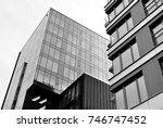 glass windows of office... | Shutterstock . vector #746747452