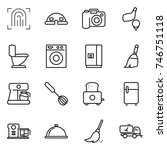 thin line icon set  ... | Shutterstock .eps vector #746751118