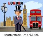 the big ben | Shutterstock . vector #746761726