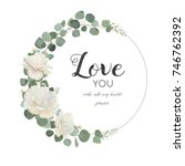 vector floral design card.... | Shutterstock .eps vector #746762392