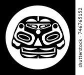 bear. ethnic themes for tattoo. ... | Shutterstock .eps vector #746765152
