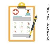 health insurance form. vector...   Shutterstock .eps vector #746770828