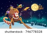 christmas card greeting with... | Shutterstock . vector #746778328