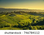 panoramic view of countryside... | Shutterstock . vector #746784112