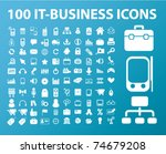 100 it business icons  vector | Shutterstock .eps vector #74679208