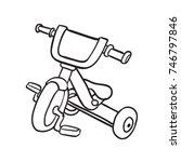 tricycle vector doodle | Shutterstock .eps vector #746797846