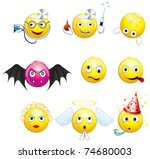 Collection Of Yellow Smileys....