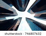 3d rendering low angle view of... | Shutterstock . vector #746807632