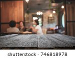 empty wooden table space... | Shutterstock . vector #746818978