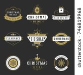 christmas sale badges  labels... | Shutterstock .eps vector #746819968