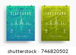 set of modern party posters.... | Shutterstock .eps vector #746820502