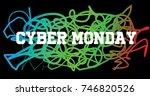 cyber monday | Shutterstock .eps vector #746820526
