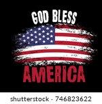 God Bless America. Vector...