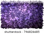 dark purple vector low poly... | Shutterstock .eps vector #746826685