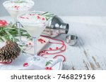 christmas white margarita punch | Shutterstock . vector #746829196