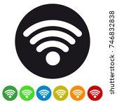wifi wireless wlan internet... | Shutterstock .eps vector #746832838