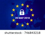 gdpr   general data protection... | Shutterstock .eps vector #746843218