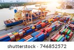 logistics and transportation of ...   Shutterstock . vector #746852572