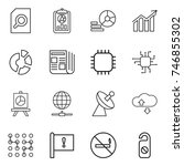 thin line icon set   search... | Shutterstock .eps vector #746855302