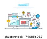 monitoring  digital marketing ... | Shutterstock .eps vector #746856082