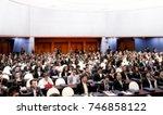blurred meeting room business... | Shutterstock . vector #746858122