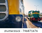 rail transport  trains and cars | Shutterstock . vector #746871676