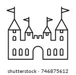 castle vector outline icon