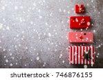 christmas advent calendar...   Shutterstock . vector #746876155