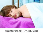 handsome young man at a  spa...   Shutterstock . vector #74687980
