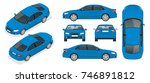 set of sedan cars. isolated car ... | Shutterstock .eps vector #746891812