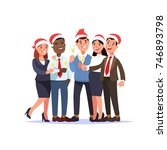 christmas corporate party in... | Shutterstock .eps vector #746893798
