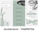 hand drawn fish illustration.... | Shutterstock .eps vector #746898706