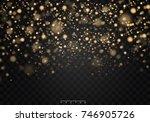 christmas shining bokeh...   Shutterstock .eps vector #746905726